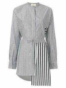 Ports 1961 asymmetric striped shirt - Black