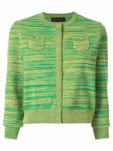 Caban striped slim-fit cardigan - Green