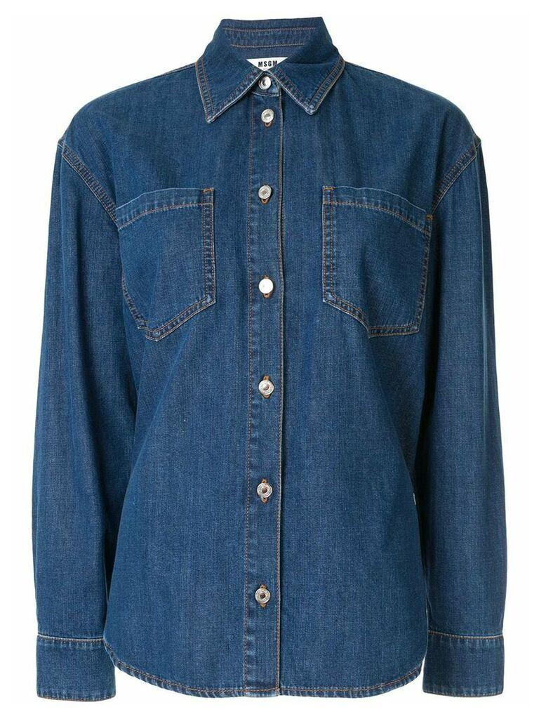 MSGM denim shirt - Blue