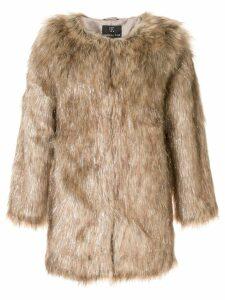 Unreal Fur faux fur Wanderlust Coat - Brown
