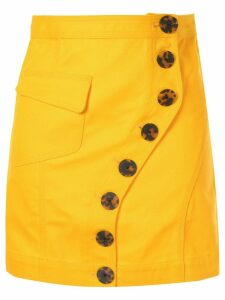 Acler Golding button denim skirt - Yellow