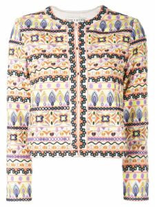 Alice+Olivia Kidmand embroidered box jacket - Yellow
