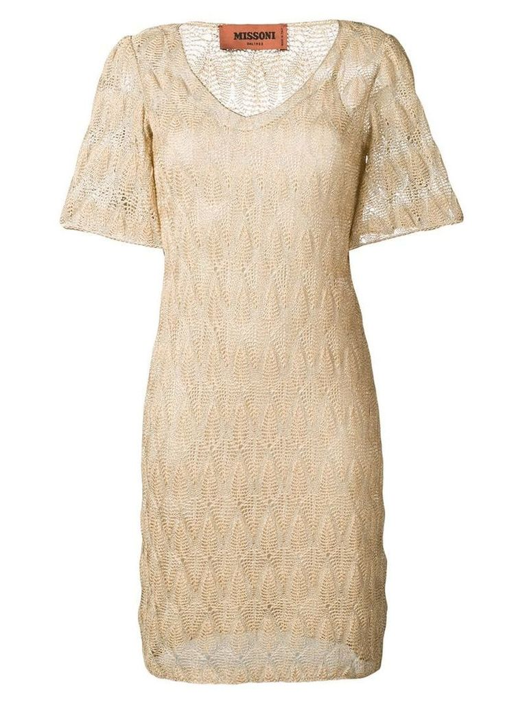 Missoni v-neck dress - Neutrals