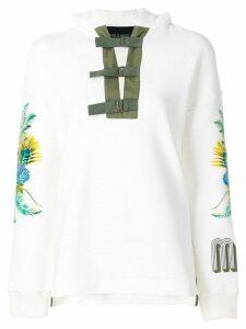 Mr & Mrs Italy front buckle sweatshirt - White
