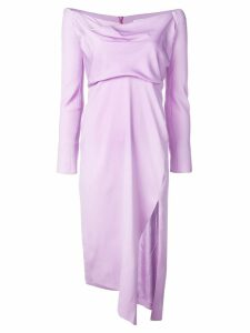 Michelle Mason cowl neck dress - Purple