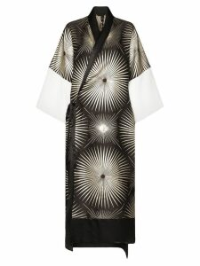 Haider Ackermann printed kimono dress - Black