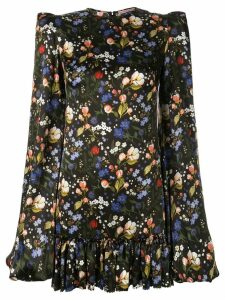The Vampire's Wife floral frill detailed dress - Black