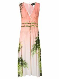 Sportmax Code palm print midi dress - Pink