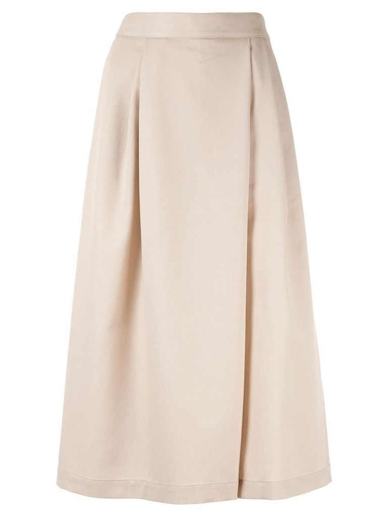 Ballsey flared midi skirt - Neutrals
