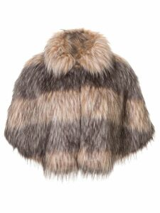 Unreal Fur faux fur Landscape Cape - Grey