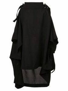 132 5. Issey Miyake draped midi skirt - Black