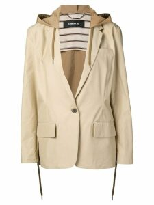 Barbara Bui hooded single-breasted blazer - Neutrals