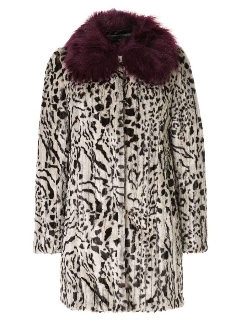 Unreal Fur faux fur Urban Jungle Coat - White