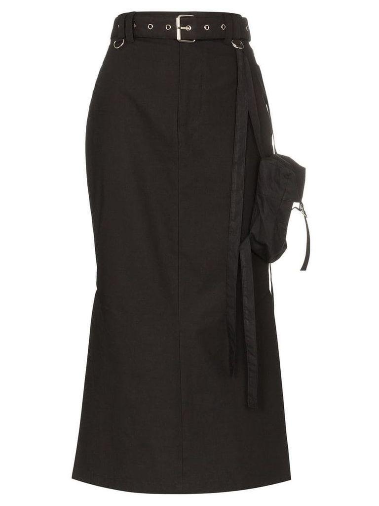 Hyein Seo utility midi skirt - Black