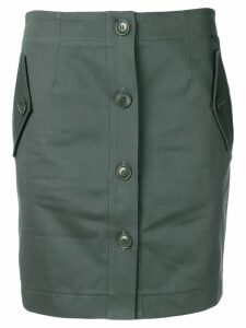 Givenchy straight button up skirt - Green