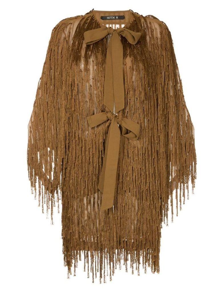 Kitx fringe embellished loose coat - Brown