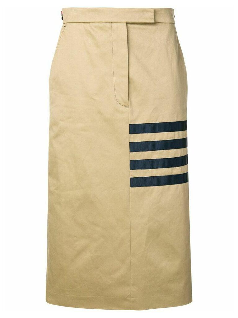 Thom Browne Grosgrain 4-Bar Sack Skirt