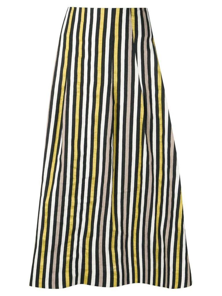 Isa Arfen striped straight skirt - Black
