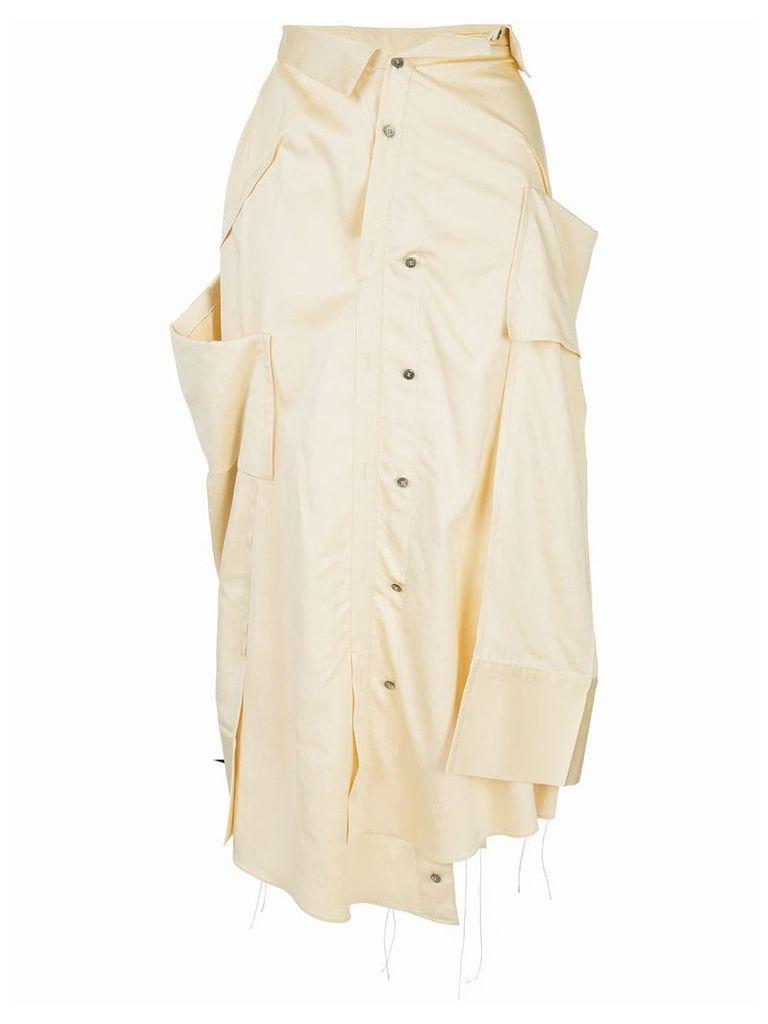 Irene The Shirt pressed skirt - Yellow