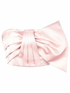 Amur pleated bow-tie top - Pink