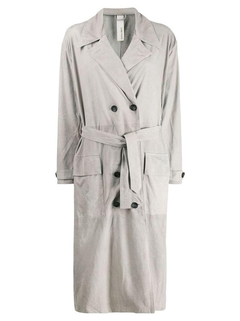 Giorgio Brato double-breasted trench coat - Grey
