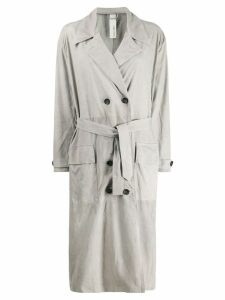 Giorgio Brato double-breasted trench coat - Grey