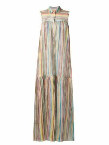 Missoni Mare layered maxi shirt dress - Neutrals