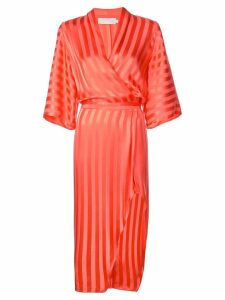 Michelle Mason kimono sleeve dress - Red