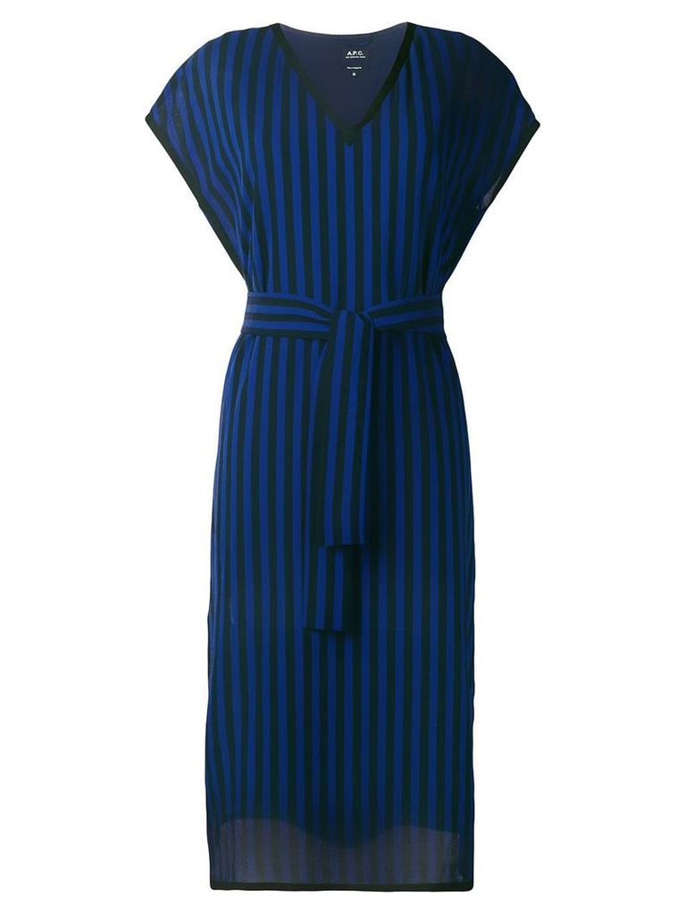 A.P.C. striped T-shirt dress - Black