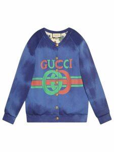 Gucci Cotton sweatshirt with Gucci logo - Blue