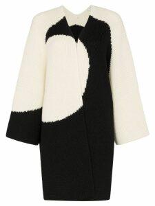 Valentino Luna knitted cape - White