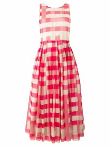 Sara Lanzi Vichy pinafore dress - Pink