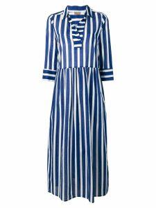 Altea striped midi dress - Blue