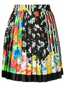 Versace floral pleated skirt - Yellow
