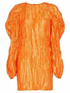 Rotate textured crinkle mini dress - Orange