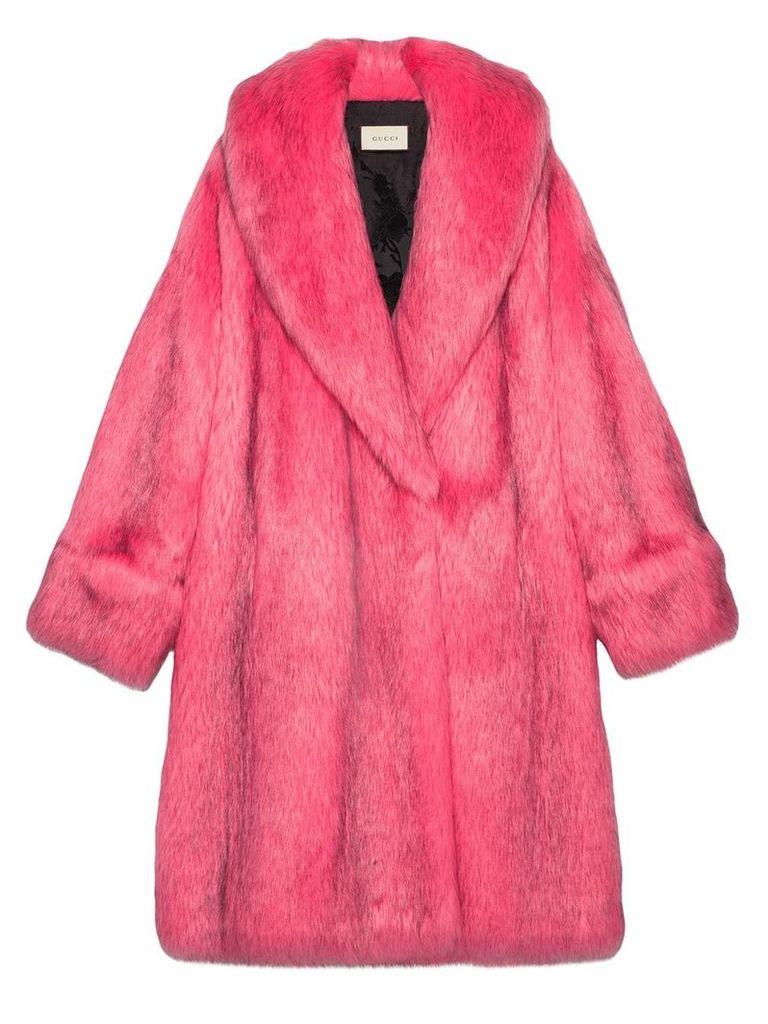 Gucci Oversize faux fur coat - 5155
