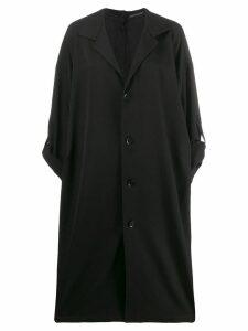 Yohji Yamamoto oversized trench coat - Black