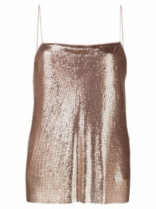 Alice+Olivia Harmon chainmail top - Pink