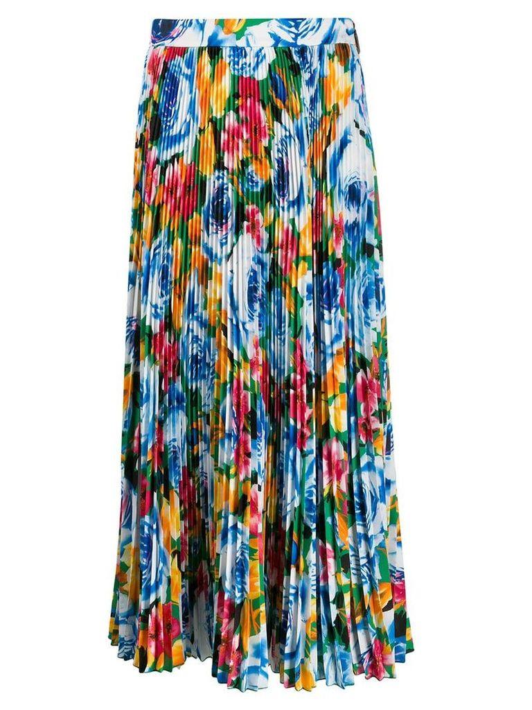 MSGM floral-print pleated skirt - Multicolour