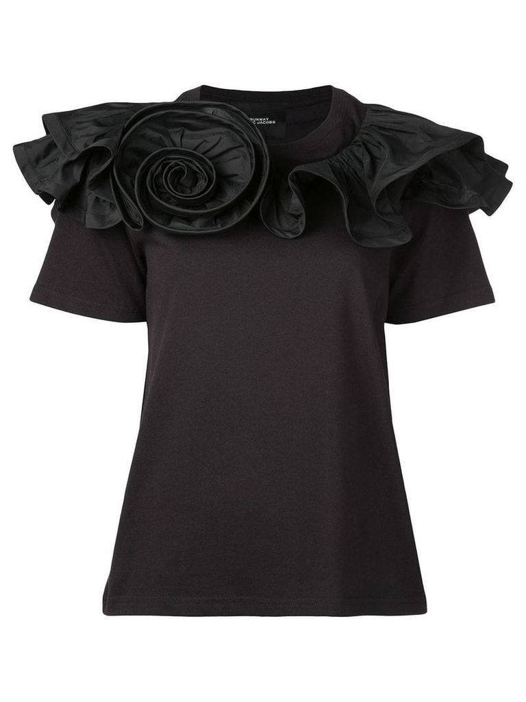 Marc Jacobs ruffled rosette top - Black