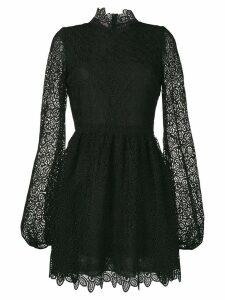 Giamba floral lace mini dress - Black