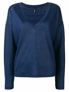 Woolrich V-neck knitted top - Blue