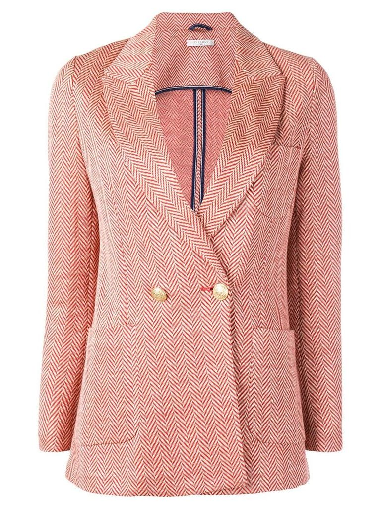 Circolo 1901 double breasted blazer - Orange