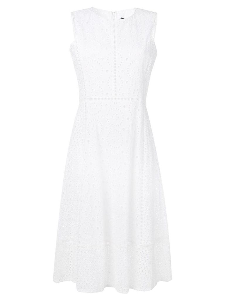 DKNY Beate Eyelet dress - White