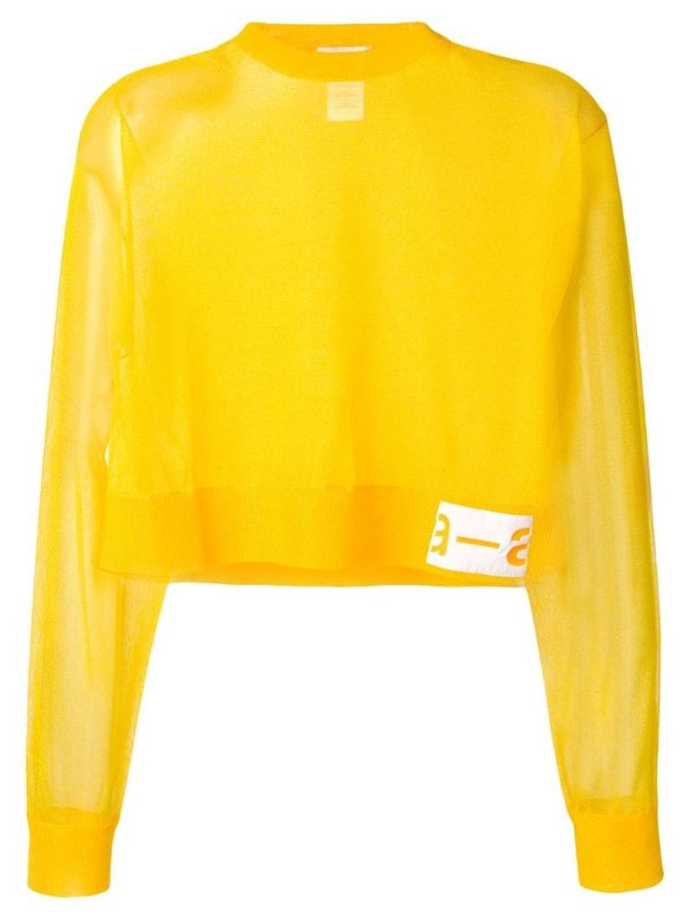 Artica Arbox cropped sheer sweater - Yellow