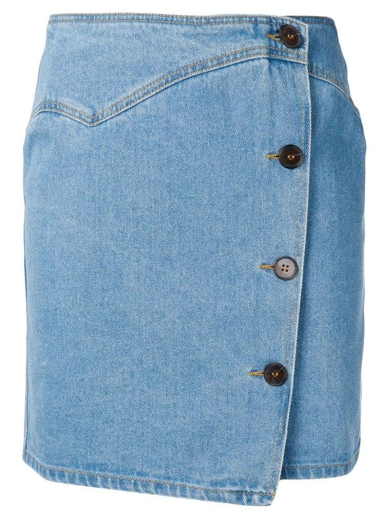 Nanushka button fastened denim skirt - Blue