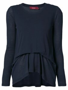 Sies Marjan draped longsleeved blouse - Blue