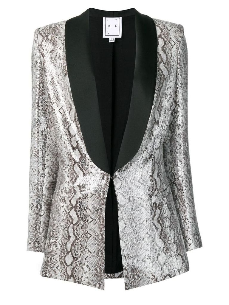 In The Mood For Love Edith snake print blazer - Grey