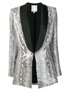In The Mood For Love Edith snake print blazer - Grey