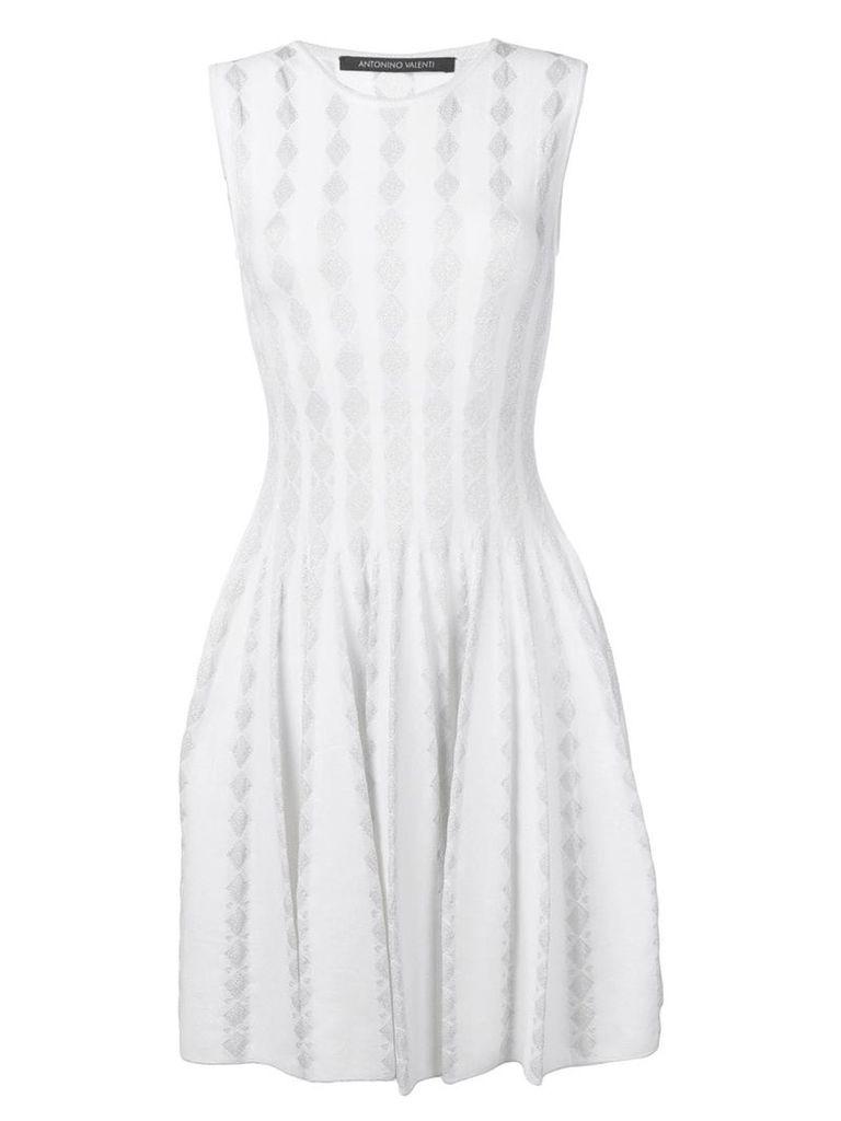 Antonino Valenti diamond-intarsia dress - White